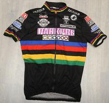 PARKPRE CASTELLI - UCI RAINBOW short sleeve retro mtb BLACK JERSEY - XXL