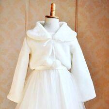 37e8d5aae White fur Cloak coat for children, Warm Jacket Baby Girls Outerwear