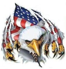 AMERICAN FLAG EAGLE HELMET/BUMPER STICKER / DECAL