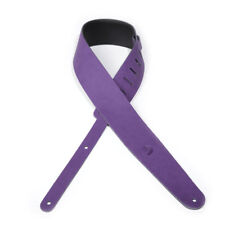 D'Addario Cantanella Leather Guitar Strap, Purple