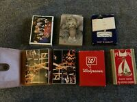 Lot Of 7 Vintage Playing Card Decks Casino Standard and Novelty (1 Deck Sealed)