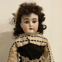 "Antique 23"" Kestner Doll 11 147 Bisque Head Kid Leather Darling Dolly Body"