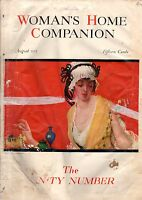 1915 Woman's Home Companion August - Geraldine Farrar; Weather; Valuable Vanity