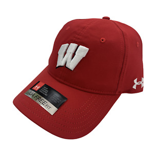 Under Armour Wisconsin Badgers Free Fit Heatgear Adjustable Cap Hat Red White