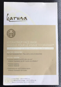 Karuna Hydrating+ Cloth Face Mask - Pack of 1 - New in Unopened Package