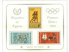 JEUX OLYMPIQUES - OLYMPIC GAMES TOKYO CYPRUS 1964 block
