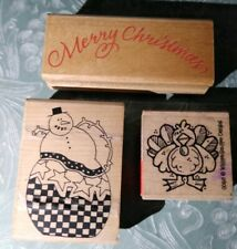 Rubber Stamps, lot of 3