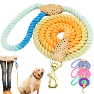 5ft Pet Dog Braided Rope Best Walking Leash Heavy Duty for Small Large Dogs Pink