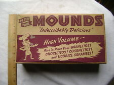 Vintage 1950's Peter Paul Mounds Store Display Box