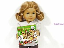 Pizza Box 6 Slice Doll Food For 18 in American Girl Dolls
