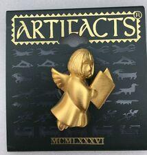 Gold Tone Singing Angel Vintage Brooch by Jonette Jewelry (JJ)