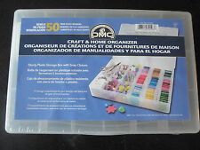 3 DMC Floss Craft Storage Organizer Boxes and 150 Plastic Bobbins NEW