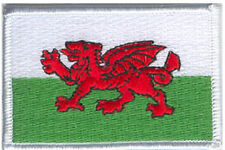 Flag of Wales - 2 Embroidered Patches