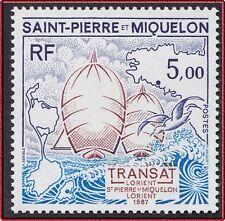 1987 SAINT PIERRE ET MIQUELON N°477** Bateau VoilierCarte, SPM sailing boat NH