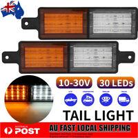 2x LED Front Indicator Park Clear Amber Light Bullbar Park LED Bull Bar Light AU