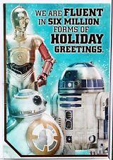 Hallmark Christmas Cards Disney Star Wars 16 Box Set C-3PO  R2-D2  BB-8 # New