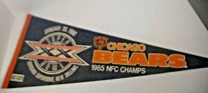 1985 CHICAGO BEARS NFC CHAMPS SPORTS PENNANT