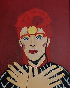 A4 canvas Painting David Bowie zigi stardust