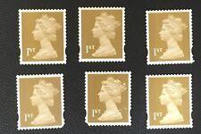 6 timbres 1st class non oblitérés (F36)