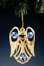 "SWAROVSKI CRYSTAL ELEMENTS ""Angel"" FIGURINE  24KT GOLD PLATED"