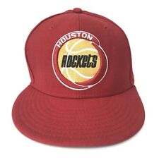cecb1516d4ba Houston Rockets New Era Hardwood Classics Red Fitted Hat Size 7