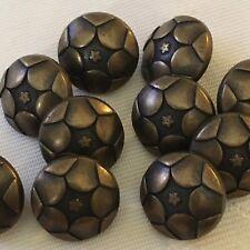 10 X 15 mm botones de metal de color bronce ex John Lewis #828