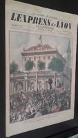 JOURNAL L'EXPRESS DE LYON ILLUSTRE DIMANCHE 2 OCTOBRE 1898 N° 19 ABE
