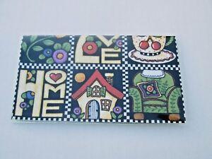 Mary Engelbreit Checkbook Cover vintag fabric & vinyl protector Custom Handmade