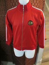 Reebok CCM Chicago Black Hawks Full Zip Track Jacket Red Youth Large