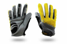 Giant Cycling Cycle Bicycle Bike BMX Antiskid Silicone Full Finger Gloves Mitts Yellow L