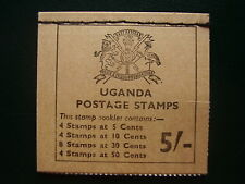 UGANDA FLOWERS RIGHT  HAND STITCHED BOOKLET 5/- of 1970 SB5 MINT COMPLETE.