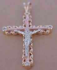 Awesome 14k Gold Diamond Cross Pendant
