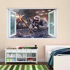 Francotirador Soldado Ejército Militar Guerra Pared Adhesivo Mural Calcomanía Cuarto de Niños Chicos CP59
