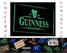 GRAND PANNEAU PUB BIERE BEER GUINNESS LED ENSEIGNE BAR CAFE LUMINEUSE NEON LAMPE