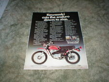 1973 KAWASAKI MC-1 90 Mini ENDURO Trail Bike Motorcycle AD Original