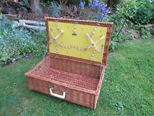 More details for vintage brexton wicker picnic basket storage display hamper empty