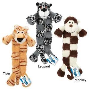 Grriggles Safari Squeaktaculars Dog Toys Tigers, Monkeys, Leopards Plush Toys
