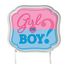 Amscan 141573 Girl or Boy Cake Topper 4 12 X 5 BLUEPINK