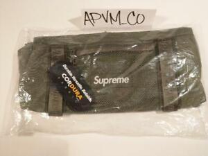Supreme Mini Duffle Bag Olive Cordura 315D Water Resistant w/Box Logo F/W 2020