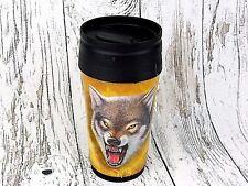 Thermobecher Becher Tasse Thermoskanne Flasche Roaring Wolf Spirit Tier Trucker
