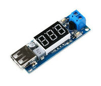 Step Down Supply Module Battery Voltage Meter 5V USB Charging Converter Board