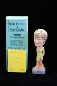 SAM's Diana Princess of Wales (Yellow Dress) Bobbing Head Doll NIB IN STOCK
