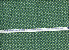 CHECKS IN BLUE AND GREEN, 100% Cotton by Northcott, 1/2 yard,
