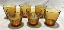 Set 6 Duralex Amber Drinking  Glasses Made In France