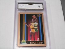 Shawn Kemp GRADED ROOKIE!! Mint 9!! 1990 SkyBox #268 Sonics HOFer 9%-1