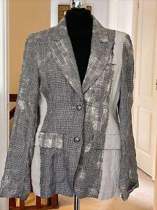 Ivan Grundahl Linen Blazer Size 40 UK 12