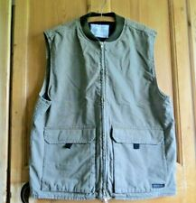 Urban Outfitters Mens Khaki Utility Vest Waistcoat Size XL, Padded Lining