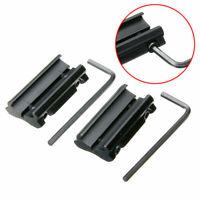 "1 Pair Picatinny 11mm Dovetail To 7/8"" 20mm Weaver Rail Adapter Mount Black Kit"