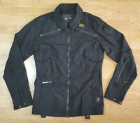 G Star Raw Denim Light Weight Jacket Biker Coat Over Shirt GStar Ladies Size S
