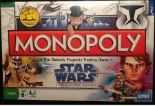 Monopoly Star Wars The Clone Wars Board Game MINT Parker Brothers 2008